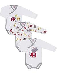 Baby Butt Wickelbody 3er-Pack mit Druckmotiv Tiere Interlock-Jersey