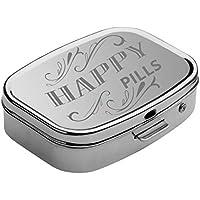 Preisvergleich für GRAVURZEILE Pillendose mit zwei separaten Fächern - Pillenbox Tablettendose Tablettenbox für unterwegs - sicherer...