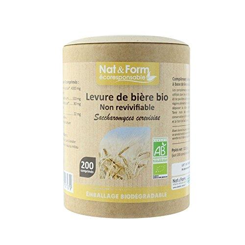 Nat&form Levure De Biere Non Revivifiable Bio 200 Comprimes