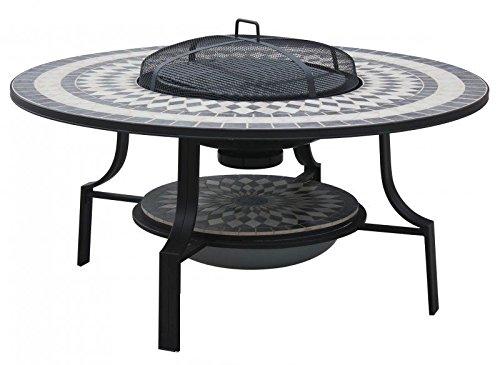 Grilltisch Feuertisch BBQ Terrassentisch Antibes 120 cm Loungetisch Grill Tisch