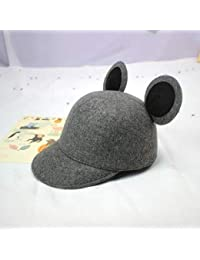 XDXDWEWERT Sombreros y Gorras Otoño e Invierno Sombrero de Lana de Mickey  Orejas Equitación Niños Cute Mickey Mouse Big Ear Cap… 0b22bbadbc7