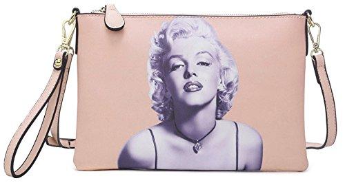 Big Handbag Shop , Damen Handgelenkstasche Baby Pink - Marilyn Monroe (4)