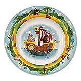 Villeroy & Boch Chewy's Treasure Hunt Kinderteller, 22 cm, Premium Porzellan, Weiß/Bunt