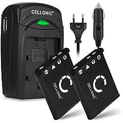 2x Batterie compatible pour Fujifilm Fuji XP90 XP120 XP80 XP10 XP20 XP22 XP30 XP50 XP70 T360 FinePix J10 Z90 Z70 Instax Mini 90 NEO Classic SQ20 Accu NP-45 700mAh Chargeur BC-45 Câble charge Voiture