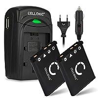 CELLONIC 2X Batería Compatible con Fuji XP90 Fujifilm XP120 XP80 XP10 XP...