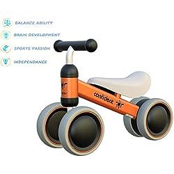 Bicicleta para Bebés de 1 Año Draisinne Chica Niño 10-15 Meses Juguetes Regalo de Aniversario 1 Años Bicicleta Bebé Equilibrio(Naranja)