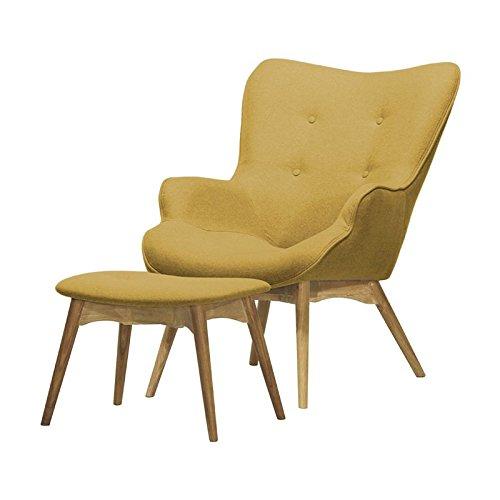 Blomster – Sessel/Polstersessel / mit Hocker (in Gelb)