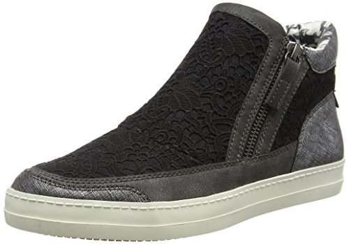 Tamaris Damen 25403 High-Top Schwarz (BLACK COMB 098)