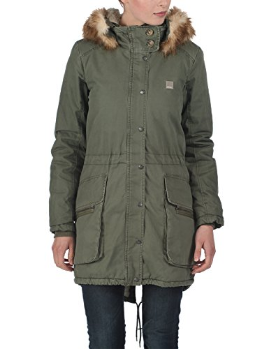 Bench Damen Jacke Jacke Parka Wolfish B grün (Beetle) Medium