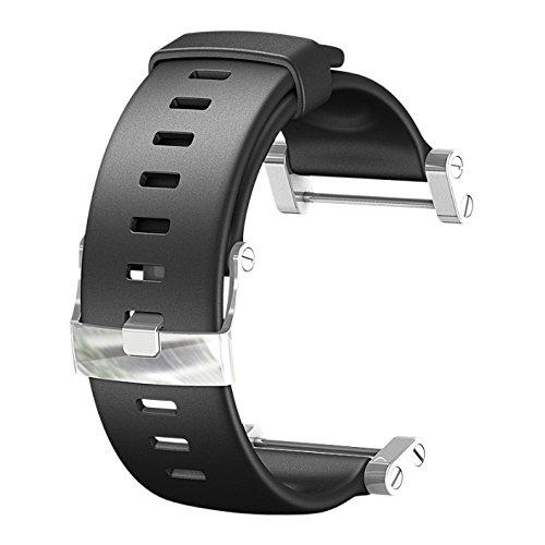 Suunto Unisex Silikonarmband Core Graphite, Black mit Bügel, One Size, SS013338000 -