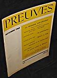 Preuves. n°117. Novembre 1960