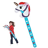 BoxedUpParty Inflatable Stick Unicorn | Hobby Horse Style