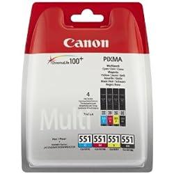 Canon - CLI-551 - Cartouche d'Encre d'Origine - Noir / Cyan / Magenta / Jaune