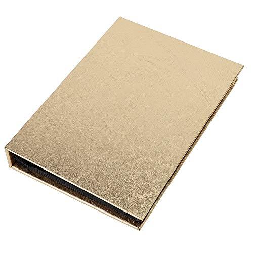NITRIP 30 Seiten Nail Sticker Sammlung Alben Folding Storage Book Organizer Kunststoff(Gold) -