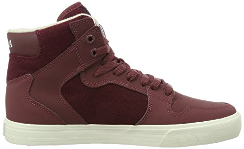 Supra Vaider, Baskets Basses Homme Rouge - Rot (BURGUNDY - WHITE 650)