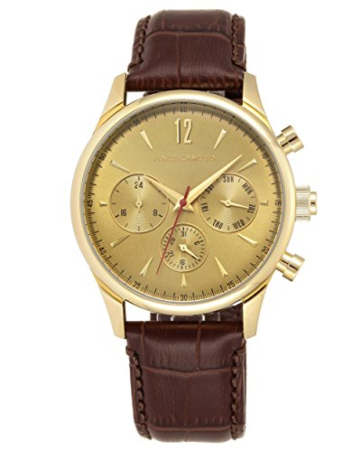 vince-camuto-mens-quartz-watch-with-gold-dial-analogue-display-and-brown-leather-strap-vc-1078gdgp