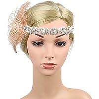 BESTOYARD 1pc Diadema de Diamantes de imitación de Mujer Diadema Fiesta Vintage (Rosa Desnuda)