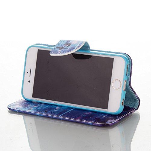 iPhone 6S Custodia, Felfy Flip in PU pelle Portafoglio Custodia Cover Gatto Design per Apple iPhone 6/6S, Portafoglio Wallet / Libro /Cuoio Chiusura Magnetica Porta carte di Protettiva Tasca Copertina C6