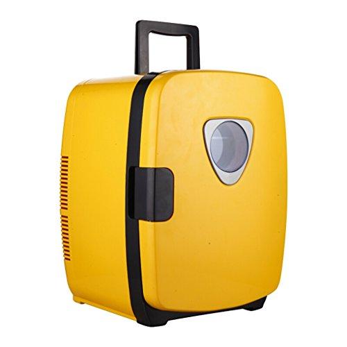 MMM Mini boîte réfrigérante jaune de réfrigérateur de Mute du réfrigérateur 20L (utilisation à la maison de bureau et de voiture) @