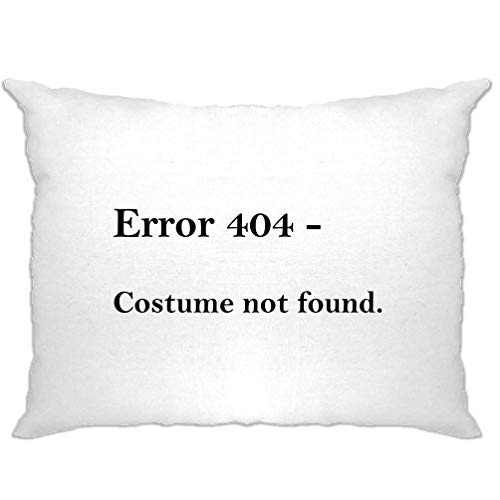 Tim And Ted Nerdy Halloween Kissenbezug Fehler 404, Kostüm Nicht gefunden White One Size (Witze Halloween Nerdy)