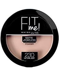 GEMEY MAYBELINE - Poudre Compact - Fit me - Matte + Poreless - 230 natural buff