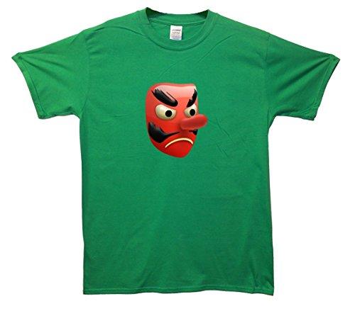 Rot Goblin Mask Emoji T-Shirt Grün