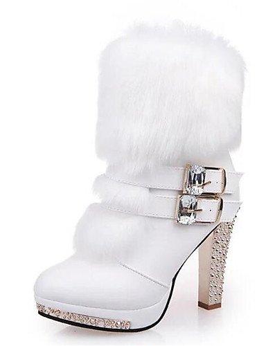 ShangYi Mode Frauen Schuhe Damen Stiefel Frühjahr / Herbst / Winter / mode schuhe stiefel Kunstleder Outdoor / Casual Stilettabsatz Andere Weiß