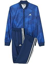 adidas Yb Training Ts Chándal, Niños, Azul (Azumis / Azul / Blanco), 152