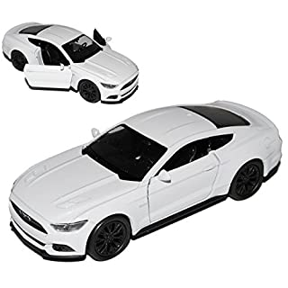 alles-meine.de GmbH Ford Mustang VI Coupe Weiss Ab 2014 ca 1/43 1/36-1/46 Welly Modell Auto