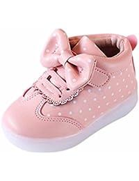 K-youth® Zapatillas Bebe Niña Zapatos Bebe Niñas LED Luz Luminosas Flash Zapatos Zapatillas de Deporte Zapatos de Bebé Antideslizante Botas Niña Zapatos
