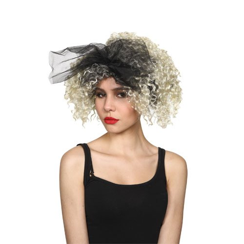 Madonna 80s Style Wig with black bow