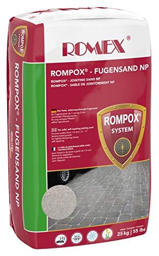 ROMEX Fugensand NP 25kg Sack, Farbe Basalt - Der feste Fugensand gegen Unkraut