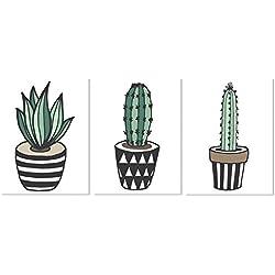 cuadros de cactus pintados