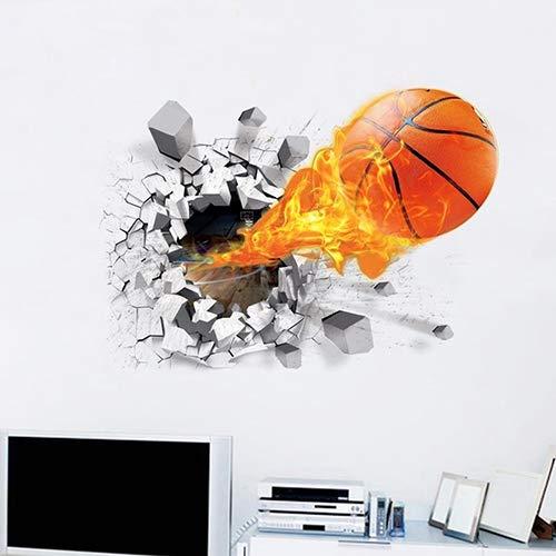 ebender Entfernbarer Wand-Wandaufkleber Mit Kreativem Basketball-Muster-Ausgangsraum-Dekor ()