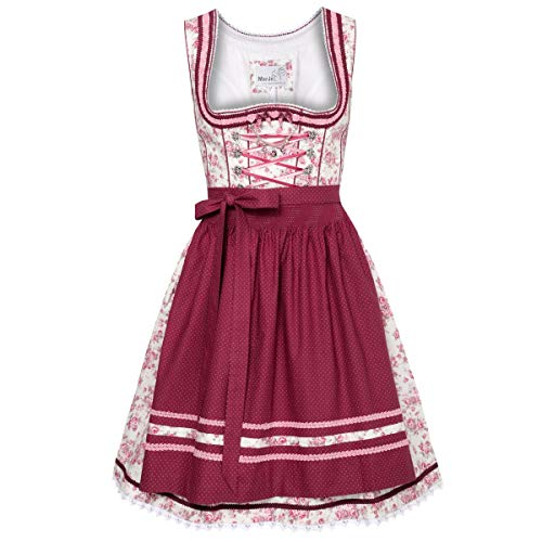 MarJo Trachten Mini Dirndl Bomilla in Creme Designer Dress Form Set