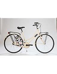 Olanda Flowers cream: Bicicleta paseo mujer