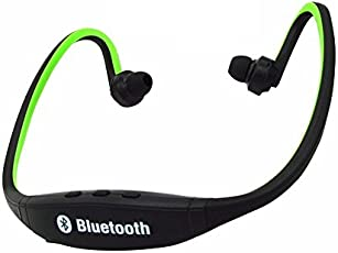 Drumstone Bluetooth Bs19C in-Ear Sports Headset with Micro Sd Card Slot and Fm Radio Compatible for One Plus 5T and iPhone 7Plus Mobile