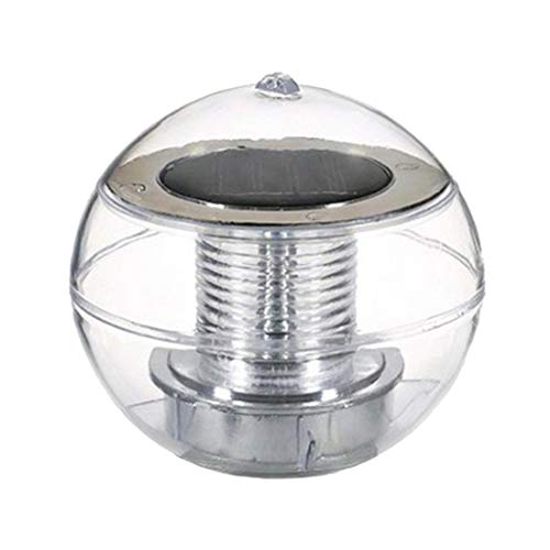D DOLITY Schwimmkugel schwimmende Solarlampe Teichbeleuchtung Solarkugel Dekolicht, Wasserdicht, 110 x 110 x 110 mm - Mehrfarbig