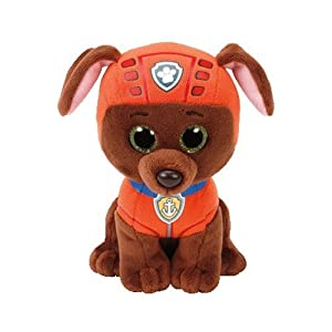 Ty- Patrulla Canina, Zuma, Color marrón, Naranja, 23 cm (United Labels Ibérica 96324TY)