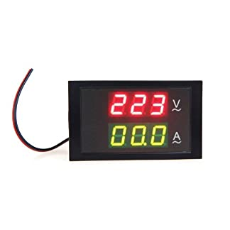 Kkmoon DL85-2042 – Multímetro digital (AC 80-300V 99.9A, medidor de voltaje, amperímetro doble)