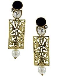 f71c34bd1de ZIVOM® Designer Filigree Ruby Red Kundan Polki Pearl Antique Gold Plated  Earring For Women Gift