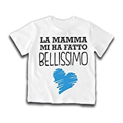 Idea Regalo - T-Shirt Bimbo Bianca Personalizzata Maglietta Bambino