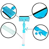 Mammoth Glass Cleaner Wiper - 3-in-1 Windshield Cleaner Brush Glass Wiper Squeegee Washer Cleaner With Microfiber Scrubber Spray Bottle For Window Shower Floor Car Home And Office Glass