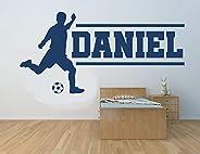 Nombre personalizado, futbolista, vinilo decorativo de pared, mural, calcomanía. Hogar, decoración de la pared
