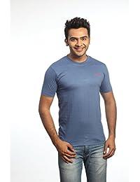 Crosscreek Casual Indigo Solid T-Shirt - 910006