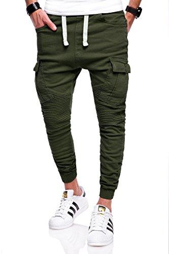 Behype Herren Jogg-Jeans Chino Jeans-Hose 80-2276 Khaki 36