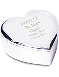 Mother of the Bride Heart Trinket - Personalised Laser Engraving