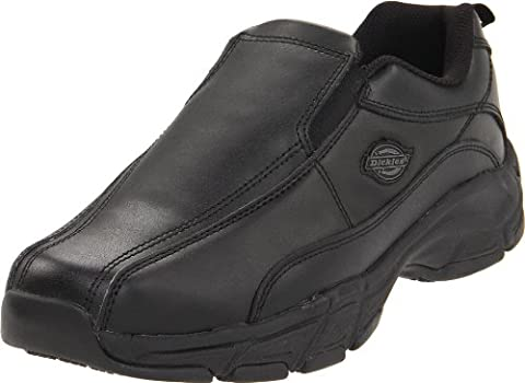 Dickies Men's Athletic Slip-On Work Shoe,Black,8 M Us