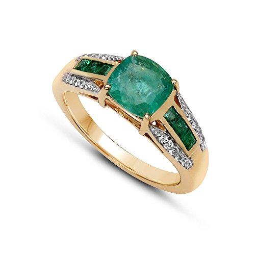 jaipuriinstyle-by-tricolore-anello-da-donna-14-carati-585-oro-giallo-vera-pietre-preziose-smeraldo-2