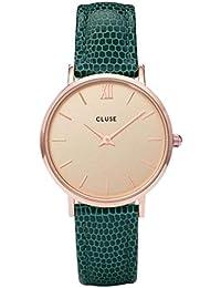 CLUSE Femmes Analogique Quartz Montre avec Bracelet en Cuir CL30052